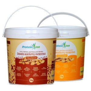 Protein Inn 100 % traškus žemės riešutų sviestas 1000 g.
